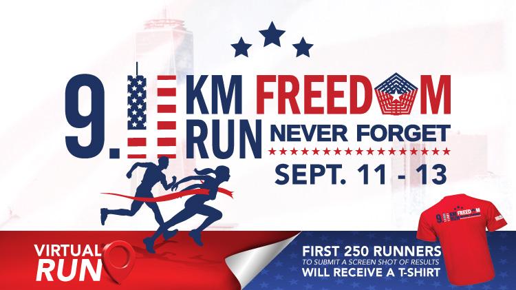 Virtual 9.11 KM Freedom Run