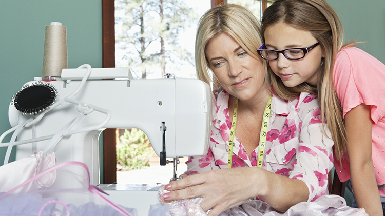 Kids on the Sewing Machine