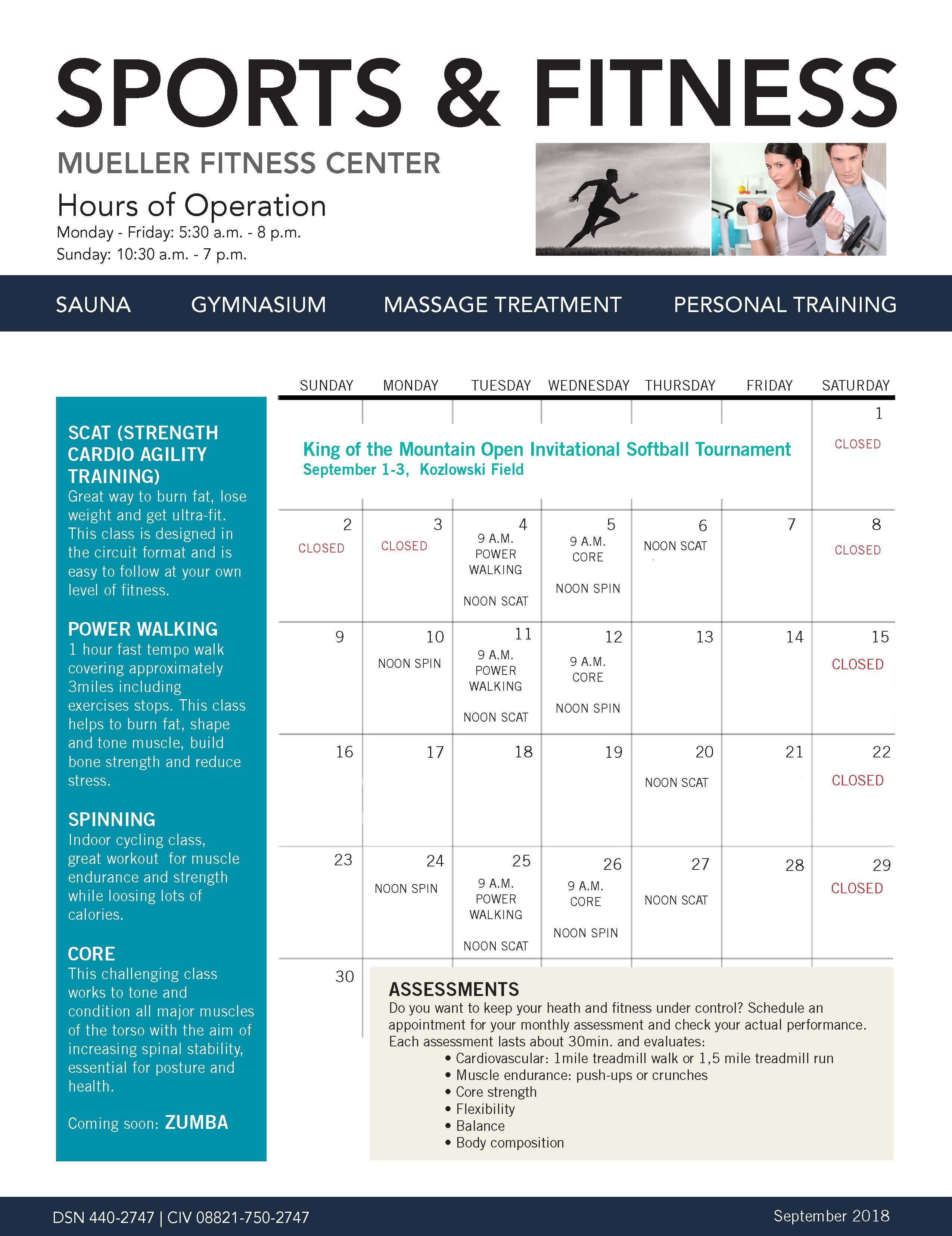 Us Army Mwr Fitness Calendar